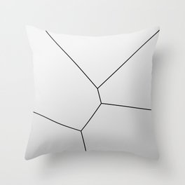 MNML BRKN SLVR Throw Pillow