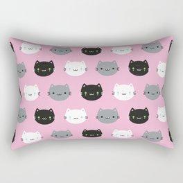 Cute Cats & Kawaii Kittens (Pink) Rectangular Pillow