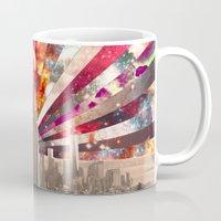 monika strigel Mugs featuring Superstar New York by Bianca Green