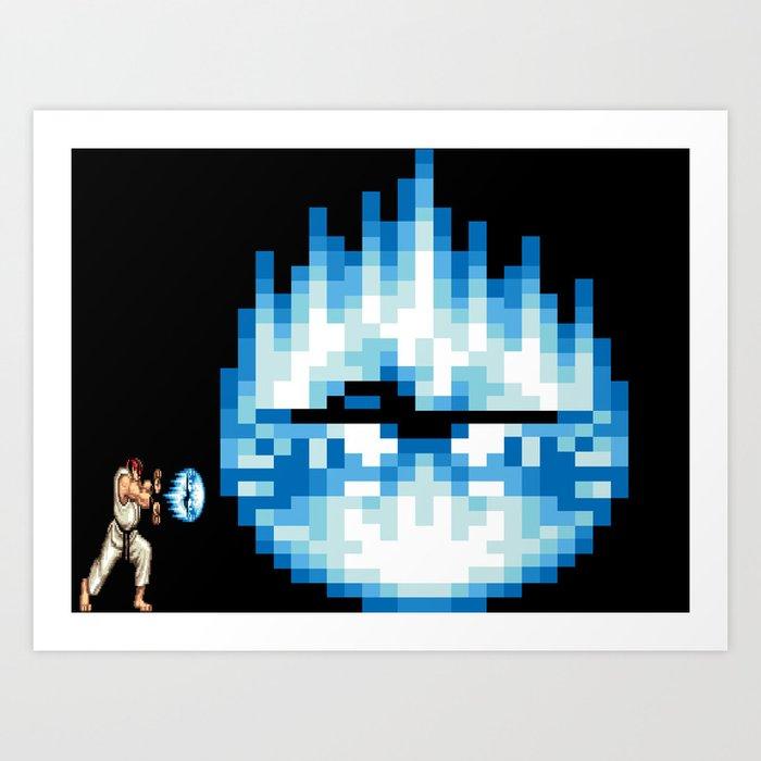 Ryu Hadouken Fireball Art Print by comelydenouement