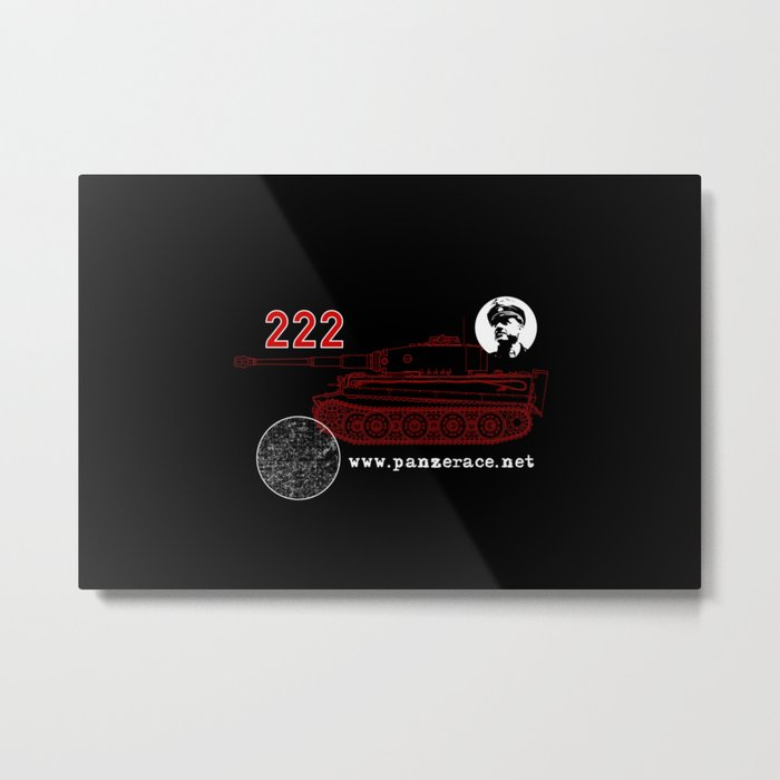 Michael Wittmann Panzer Ace 222 Villers Bocage Black Metal Print
