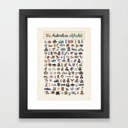 The Australian Alphabet Framed Art Print