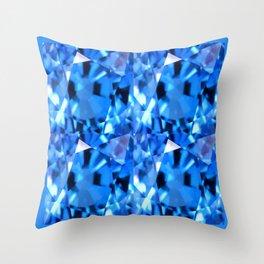 FACETED LONDON BLUE TOPAZ GEMSTONES Throw Pillow
