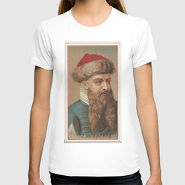 Vintage Johannes Gutenberg Illustration (1888) T-shirt