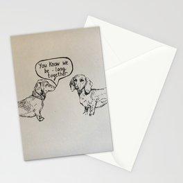 Sausage dog romance Stationery Cards