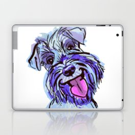 The Smiley Schnauzer Dog Love of my Life! Laptop & iPad Skin