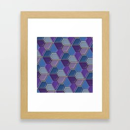 Blues & Purples Framed Art Print