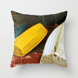 Just Boats Throw Pillow