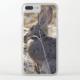 Bunny in the Bush Clear iPhone Case
