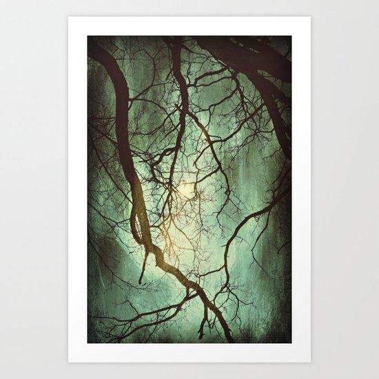 Earth's Moon Art Print