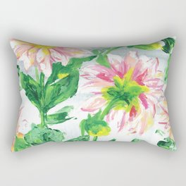 Dahlias on a cloudy day Rectangular Pillow