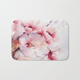 Peach Blossom - Painting Bath Mat