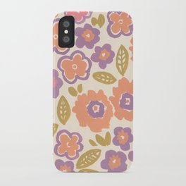 1960 Floral iPhone Case