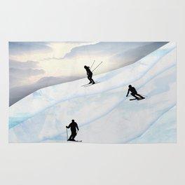 Skiing in Infinity Rug