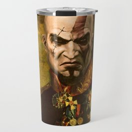 Kratos General Portrait Painting | god of war Fan Art Travel Mug