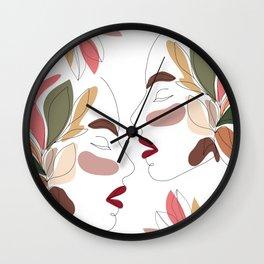 Love - Minimal Line Art  Wall Clock