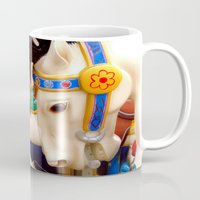 carousel Mugs featuring Carousel by laika in cosmos