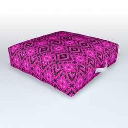 Pink & Black Vortex Diamonds Outdoor Floor Cushion