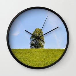 Lonely Oak in Spring Wall Clock