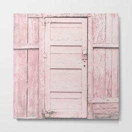 Pink Door Metal Print