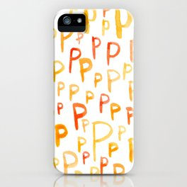 Painted P iPhone Case