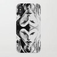 evil queen iPhone & iPod Cases featuring Evil Queen by Keith Gutierrez