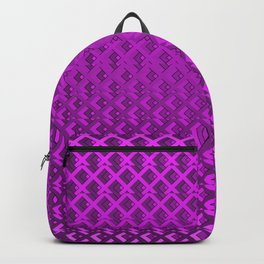 Seamless wire fence violet pattern Backpack