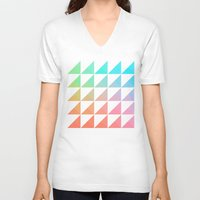 gradient V-neck T-shirts featuring Gradient by Fimbis