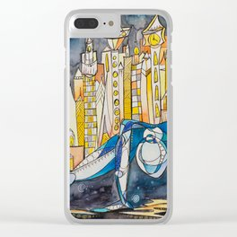 Dancing with the Weight of the World Clear iPhone Case