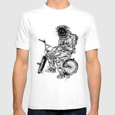 Void in Space (Blk) SMALL Mens Fitted Tee White