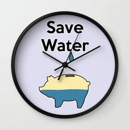 Save Water Wall Clock