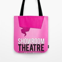 theatre Tote Bags featuring Showroom Theatre by Chris Andrawes