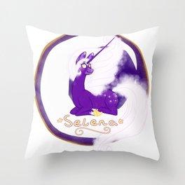 Selena The Unicorn Throw Pillow