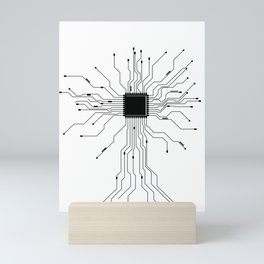 Computer Scientist CPU Heartbeat Gift for Nerds Mini Art Print