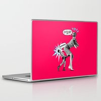 butt Laptop & iPad Skins featuring Butt Jab by victor calahan