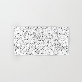 spotty dotty in black and white Hand & Bath Towel