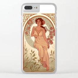 Roses art nouveau Clear iPhone Case
