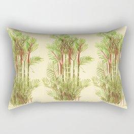 Palmier Rouge - Red Palmtree Rectangular Pillow