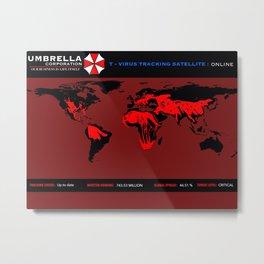 Umbrella Corp T-Virus Tracking Software Metal Print