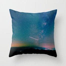 Desert Summer Milky Way Throw Pillow