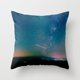 Desert Summer Milky Way Throw Pillow