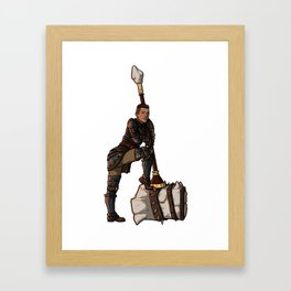 Strong Female Pose - Krem Framed Art Print