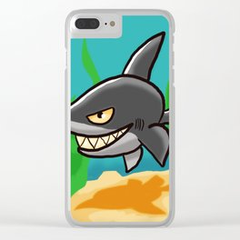 Toothy Shark Clear iPhone Case