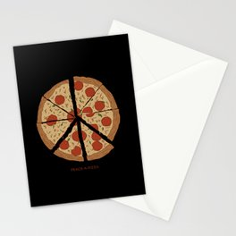 PEACE-A-PIZZA Stationery Cards