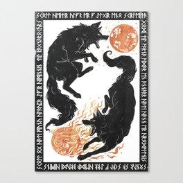 Hati & Sköll - Norse Mythology Canvas Print