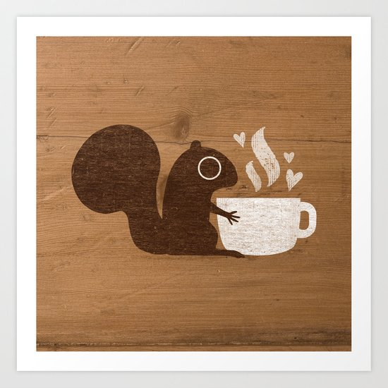 Squirrel Coffee Lover by mylifeisacartoon