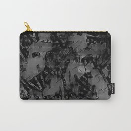 Streetart In The Shadows - Black and Gray Graffiti Carry-All Pouch
