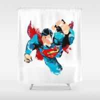 hero Shower Curtains featuring HERO by ALmighty1080