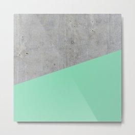 Concrete and Sea Color Metal Print