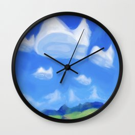 Catsky Wall Clock